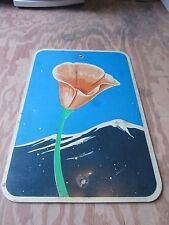Rare California Golden Poppy Scenic Highway Sign State Vintage Collectible c1972