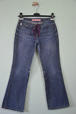 GUESS Vtg Retro Style Look Laceup Ladies Petite Classic Denim Jeans sz 24 XS L82