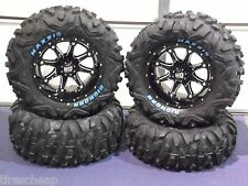 "26"" POLARIS RZR BIGHORN RADIAL RWL ATV TIRE & 14"" WHEEL KIT SS4 COMPLETE"