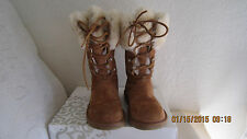 UGG AUSTRALIA MONTCLAIR BOOTS 1892 CHESTNUT SUEDE SHEEPSKIN LACE UP Size 5