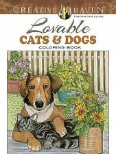 Adult Coloring: Creative Haven Lovable Cats and Dogs Coloring Book by Ruth...