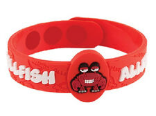 AllerMates SHELLFISH Allergy Wristband Seafood Medical ID Silicone Bracelet NEW