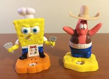 SpongeBob & Patrick Toy Figure Lot ~ Plastic Cake Toppers Figurines Spinner Game