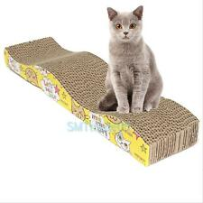 Cat Kitten Pet Scratching Corrugated Board Scratcher Post Pole Bed Mat Pad Toys