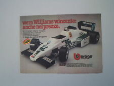 advertising Pubblicità 1983 BBURAGO WILLIAMS FW08 TURBO