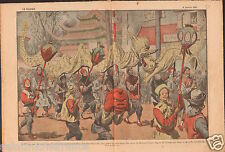 Chinese New Year Nouvel an chinois Parade dragoons China Chine 1921 ILLUSTRATION