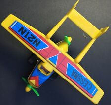 Vintage Cessna Skymaster 1960s Tin + Plastic Friction Toy