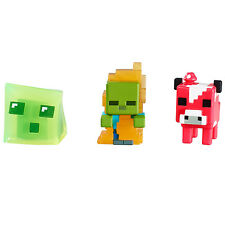 Minecraft mini figures 3 pack-mooshroom, zombie en flammes et slime * brand new