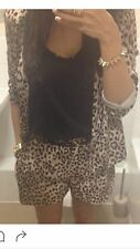 River Island Leopard Print Suit Size 8 Used
