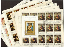 RUSSIA 1970 Complete Set 7 FULL SHEETS of stamps & s/s Hermitage Art # 3802-3809