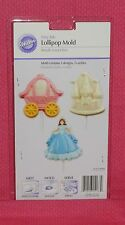 Princess,Fairy Tale Chocolate Lollipop Mold,Wilton,2115-1033,Clear Plastic
