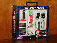 Die-cast Metal Car Garage Accessories 1:18 Scale, 10 pcs Garage Equipment NEW