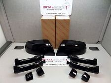 Toyota Tundra Black Painted Mirror Covers & 4 Door Handle Kit Genuine OE OEM