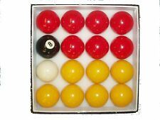 "REDS & YELLOWS 2"" POOL BALLS (STANDARD SIZE)"