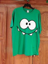 NEW MENS UNISEX COTTON GREEN CUT THE ROPE OM NOM SMILEY FACE T-SHIRT SIZE LARGE