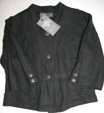 Nü by Staff Jacke  Jacket Kurz - Blazer Leinen  Black  Gr: L  Neu