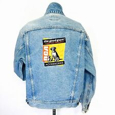 Lee Denim Collection Jean Jacket Large RCA Accessories Promo Faded