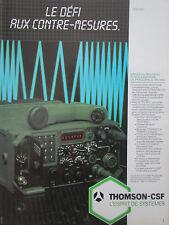 1984-85 PUB THOMSON-CSF TELECOMMUNICATIONS RADIO TRC 950 ORIGINAL FRENCH AD