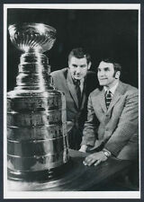 1970 Stanley Cup Admired By Pittsburgh Penguins Players Vintage Photo