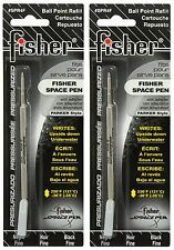 TWO Fisher #SPR Series Black Ink / Fine Point Refills #SPR4F