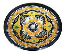 #045) SMALL 16x11.5 MEXICAN BATHROOM SINK CERAMIC DROP IN UNDERMOUNT BASIN