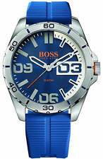 Men's Hugo Boss Orange Berlin Blue Silicone Strap Watch 1513286