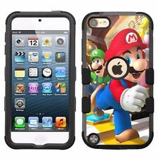 for Apple iPod Touch 6th 5th Gen Hard+Rubber Hybrid Impact Case Mario #1JY