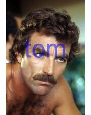 TOM SELLECK #430,BARECHESTED,SHIRTLESS,hairy chest,TV PHOTO,magnum pi