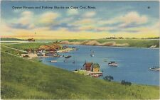 Oyster Houses and Fishing Shacks on Cape Cod, Massachusetts and many Oyster Beds