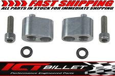 "LS 1/8"" Coolant Steam Port Top Exit Cylinder Head Crossover Tube Adapter Billet"