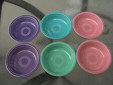 6 Vintage HLC Fiesta Fiestaware Cereal Soup Bowls