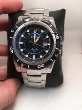 Men's Bulova 98B177 Marine Star Stainless Steel Bracelet Black Dial Watch-R8