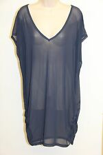 New Anne Cole Swimsuit Cover Up Dress Tunic Size L XL Navy