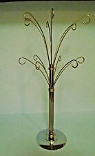 Silver Metal Wire Christmas Ornament Display Stand Tree Features 12 Arms