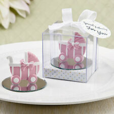 12 Pink Baby Carriage Stroller Girl Baby Shower Baptism Favors