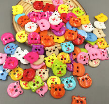 DIY 100X Bear shape Resin 2-holes  buttons Scrapbooking sewing accessories 13mm