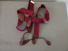 CAS West Germany Red Suspenders with Brass Hardware