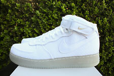 NIKE AIR FORCE 1 07 MID LV8 SZ 14 AF1 WHITE METALLIC SILVER 804609 102