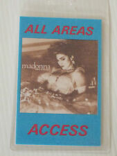 MADONNA  Laminated ALL AREA ACCESS Backstage Tour Pass (Like A Virgin)