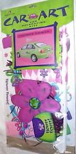 Car Decorating Kit FLOWER POWER Auto Flag Magnet Window Decorations New