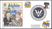 OBAMA & PALIN  SHARING SODA  THE ARCHIES COMICS  ELECTION FANCY CANCEL (FDC)-DWc