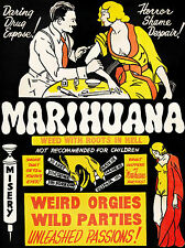 Drug Abuse Marijuana Weed 1930's Vintage Marihuana Anti Drugs Poster A4 Print