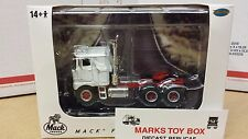 1/64 WHITE R 30038 TOP SHELF REPLICAS TSR MACK F 700 CABOVER SEMI CAB TRUCK DCP