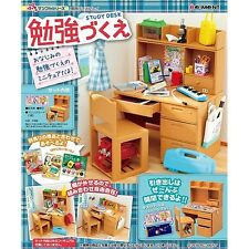 Re-ment New School Computer Study Desk Room Box Set Drawer Miniature Doll House