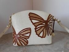 New BRAHMIN Mini DUXBURY Vanilla Cream Monte BUTTERFLY Crossbody $245
