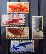 RUSSIA , 1934 , ZEPPELIN, AIRMAIL , FULL SET ,USED