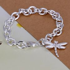 wholesale 925 sterling silver plated classic Dragonfly Bracelet jewelry H282
