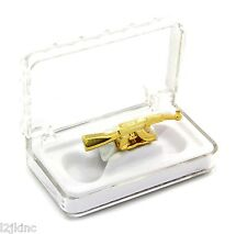Hip Hop 14K Gold Plated Gun AK47 Shape Removeable Grillz Top Teeth Solid