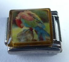 RED PARROT Italian Charm BR3 - Macaw BIRD fits ALL 9mm Classic Starter Bracelets