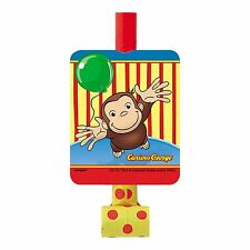 8 Curious George Childrens Birthday Party Loot Favor Treat Blowouts